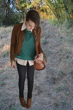 bronze Secondhand bag - bronze Bershka jacket
