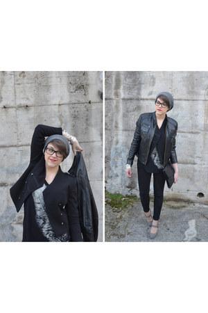 black Sisley jacket - black H&M blazer