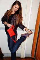 Anniel shoes - Zara jeans - Les envahisseurs jacket - Chanel bag