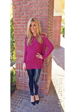black Blush Boutique leggings - hot pink Blush Boutique sweater