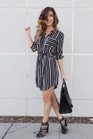 black sears dress