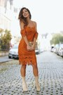 Burnt-orange-lulus-dress