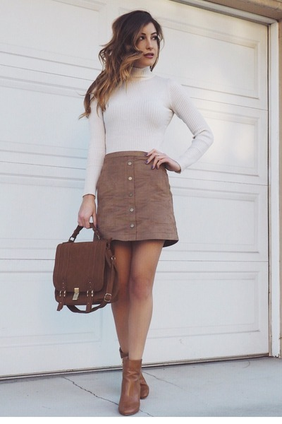 brown suede JustFab bag