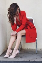 red 2020AVE jacket - light pink Forever 21 heels