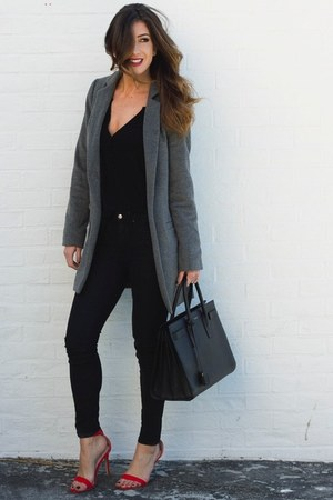 charcoal gray Tobi coat