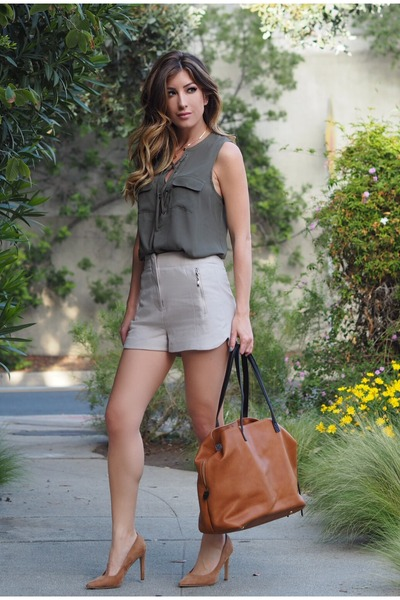 tawny Sole Society hat - beige Topshop shorts - camel Forever 21 heels