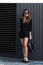black Forever 21 heels - black Forever 21 romper
