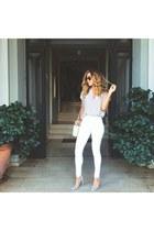 beige Forever 21 blouse - beige Shoedazzle pumps