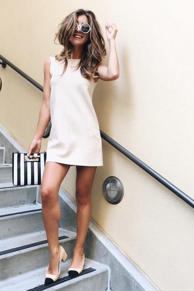 camel Zara shoes - tan Zara dress