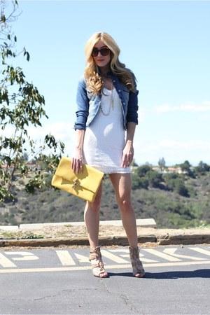 cream Forever 21 dress - camel ami clubwear heels