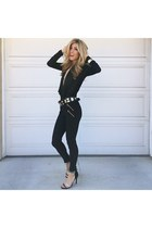 black Forever 21 leggings - black Guess heels