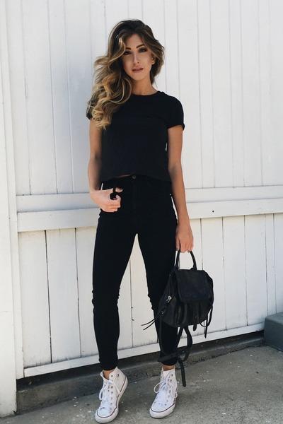 black Frame jeans - black botkier bag
