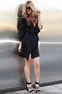 Black-metallic-dailylook-coat-black-shoedazzle-heels