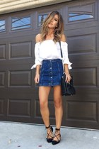 white Topshop skirt