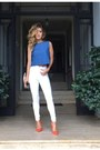 Blue-denim-zara-top-red-shoedazzle-heels