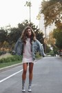 Heather-gray-zoo-shoo-boots-light-pink-forever-21-dress
