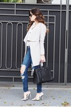 silver Lioness Fashion coat - blue distressed Hot Miami Styles jeans