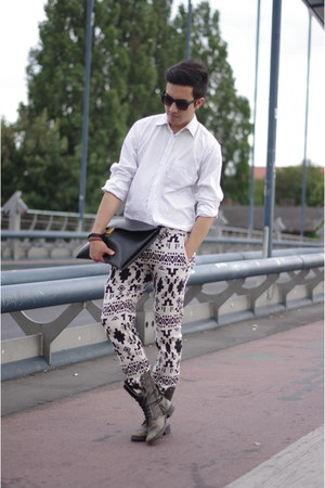 ivory elegnt shirt arturo calle shirt - indian print Zara pants