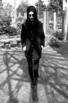 platforms Cardinn boots - winter Zara coat - circle LeNerd scarf