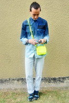 ombre DIY shirt - neon DIY bag