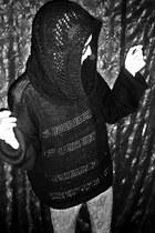 LeNerd sweater - lizard LeNerd leggings - knitted hoddie LeNerd scarf