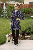 blue Tucker for Target dress - black Old Navy boots