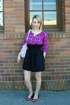 purple Old Navy shirt - black Etsy skirt - pink Dolce Vita shoes