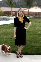 black Target dress - black Steve Madden shoes - yellow Ruche necklace
