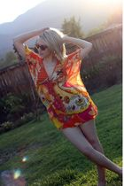 orange Ebay dress