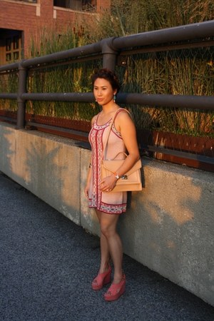 light pink embroidered Missoni dress