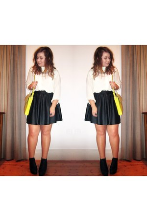 vintage shirt - leather Topshop skirt