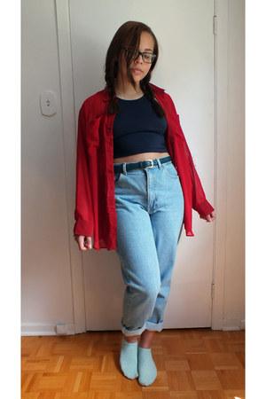 denim American Apparel jeans - gold hardware American Apparel belt