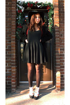black black knit DIY dress - black black wool hilary radley coat