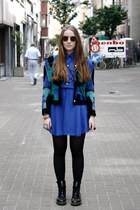 aquamarine H&M ring - black Dr Martens boots - blue Primark dress