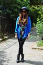 Blue-thrifted-vintage-blouse-black-flowers-h-m-jumper-black-monki-wedges-t