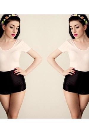 disco shorts American Apparel shorts - light pink Glamorous UK bodysuit