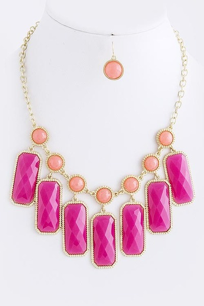Leather and Sequins necklace