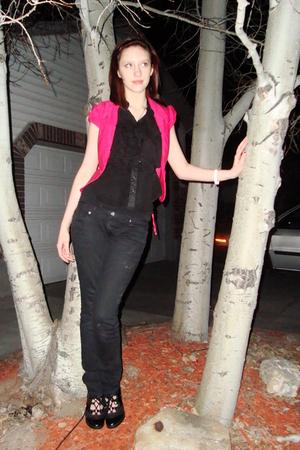 pink Rue 21 blazer - black Mudd jeans - black Target shoes - mileyandmax blouse