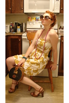 dress - Dooney & Bourke purse - Bootlegger glasses - Transit shoes