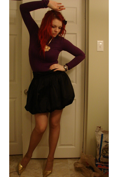 sweater - Forever 21 skirt - Sirens shoes - necklace