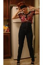 blue winners jeans - black Sirens shoes - pink Reitmans blouse
