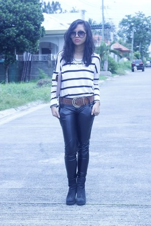 black leather OASAP pants