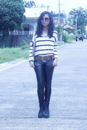 black leather OASAP pants