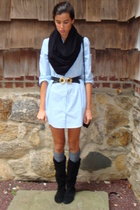 H&M dress - Secondhand scarf - Secondhand belt - free people socks - Steve Madde