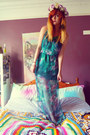 Turquoise-blue-sheer-sugarlips-dress