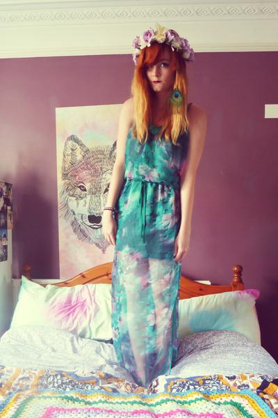 turquoise blue sheer Sugarlips dress