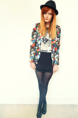 black floral Glamorous blazer