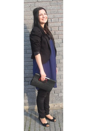 New Yorker shoes - Vero Moda dress - H&M blazer - GINA TRICOT bag