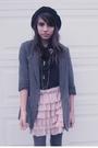 Gray-h-m-blazer-black-urban-outfitters-blouse-pink-zara-skirt-gray-joes-ti