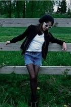 sunglasses - hat - shorts - jacket - tights